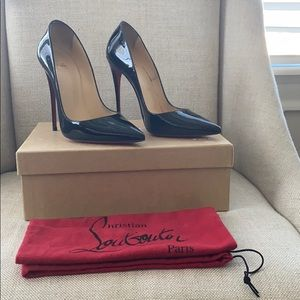 "Christian Louboutin ""So Kate"" Patent Black"